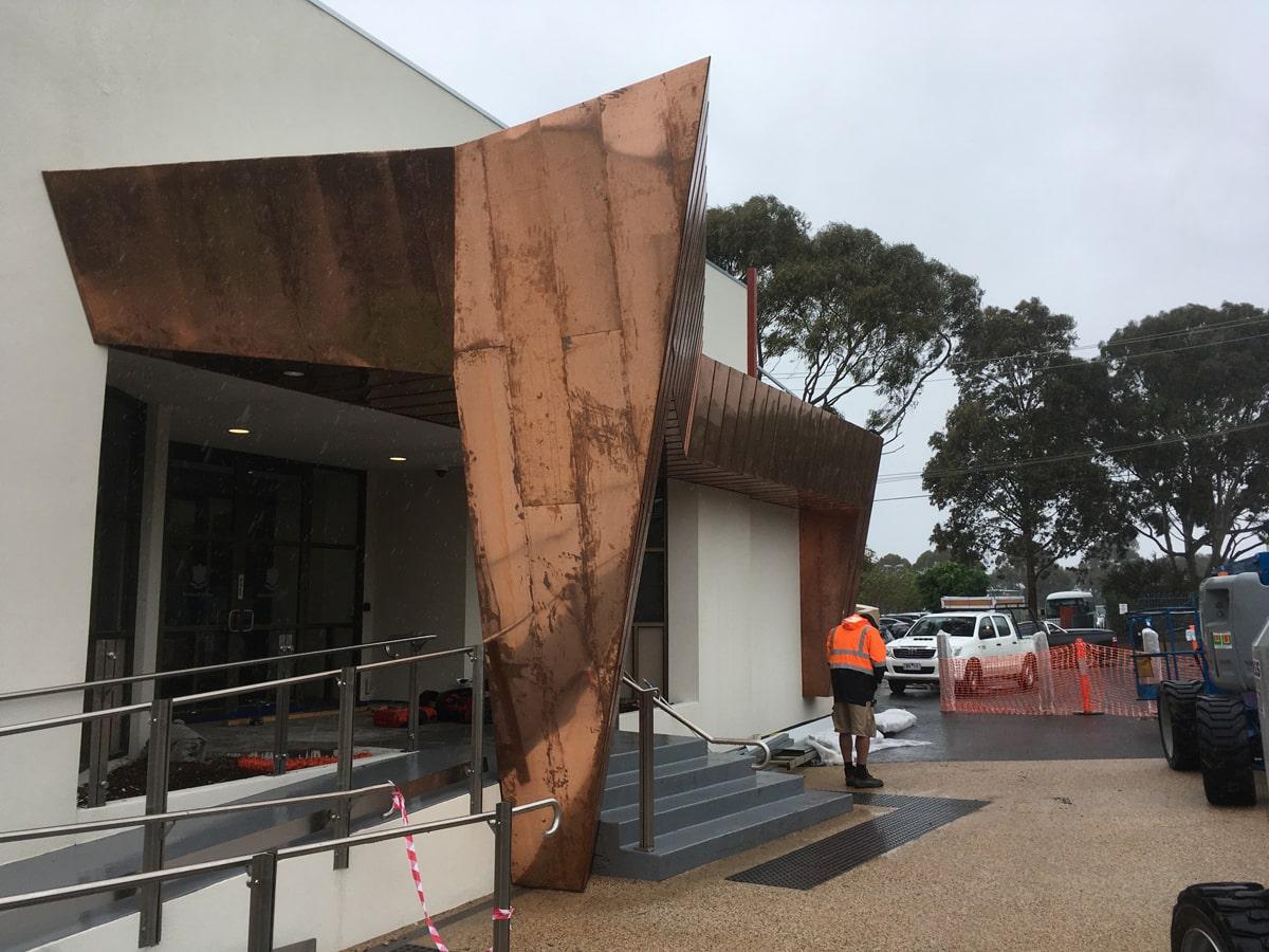 Neubau Metallverkleidung